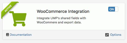 WooCommerce Integration addon
