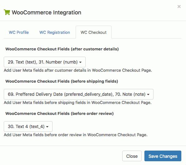 WooCommerce checkout setup